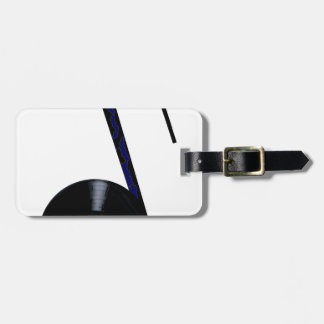 Isolated Record Note Luggage Tag
