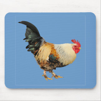 Isolated rooster mouse pad