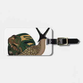 Isolated Snail Bag Tag