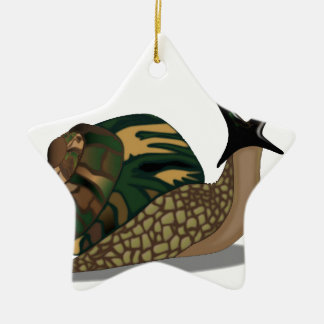 Isolated Snail Ceramic Ornament