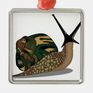 Isolated Snail Metal Ornament