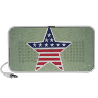 Isolated Star With American Flag Design iPhone Speakers
