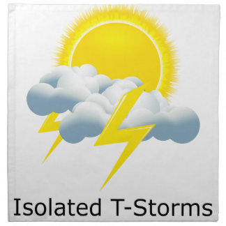 Isolated T-Storms Printed Napkins