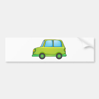 Isolated toy car on white car bumper sticker