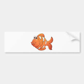 Isolated tropical fish on white car bumper sticker