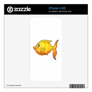 Isolated tropical fish on white iPhone 4S skin