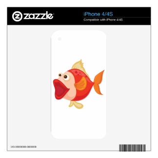 Isolated tropical fish on white iPhone 4 decals
