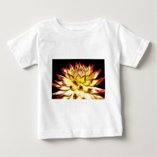 Isolated yellow and red dahlia flower baby T-Shirt