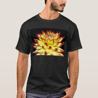 Isolated yellow and red dahlia flower T-Shirt