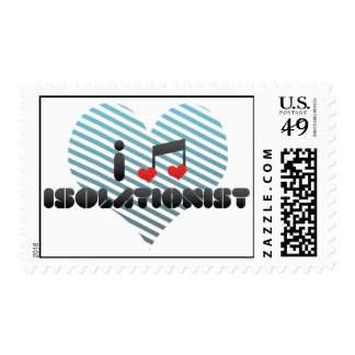 Isolationist fan postage stamps