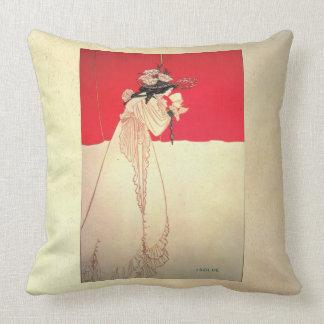 Isolda de Nouveau del arte del vintage por Beard Cojin