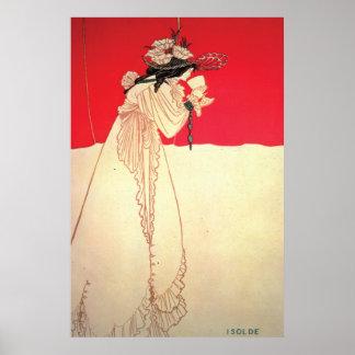Isolda de Nouveau del arte del vintage por Beard Impresiones