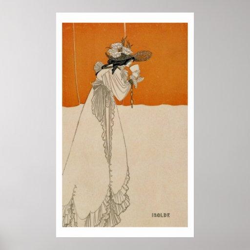"""Isolda, ejemplo """"del estudio"""", 1895 (lith impresiones"""