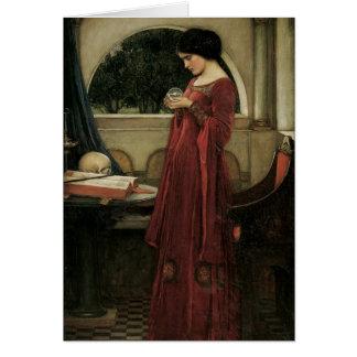 Isolda y bola de cristal 1902 tarjeta de felicitación