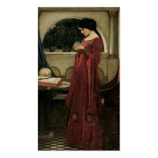 Isolda y bola de cristal 1902 tarjetas de visita