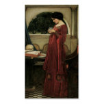 Isolde and Crystal Ball 1902 Business Card