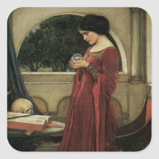 Isolde and Crystal Ball 1902 Square Sticker