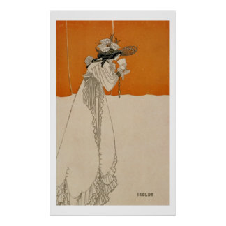 Isolde, illustration from 'The Studio', 1895 (lith Poster