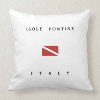 Isole Pontine Italy Scuba Dive Flag Pillows