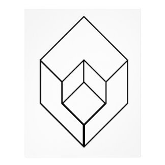 Isometric object- architectural-axonometric view letterhead