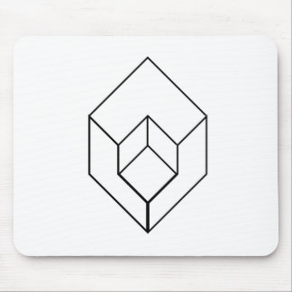 Isometric object- architectural-axonometric view mouse pad
