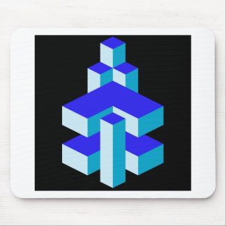 Isometric object mouse pad