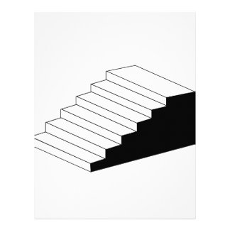 Isometric object stair- architectural 3d object letterhead