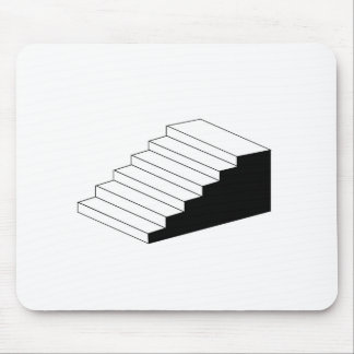 Isometric object stair- architectural 3d object mouse pad