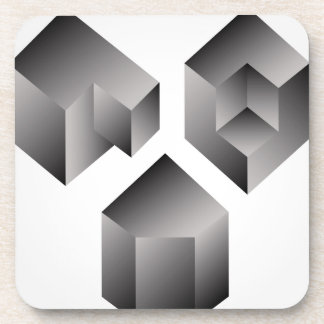 Isometric objects drink coaster