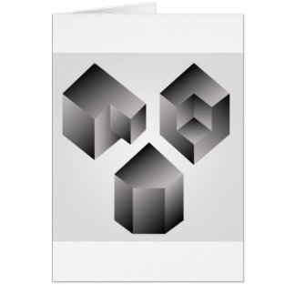 Isometric objects greeting card