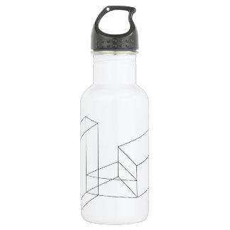 Isometric objects in axonometric view 18oz water bottle