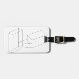 Isometric objects in axonometric view luggage tag