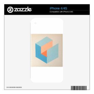 Isometric Op Art Cube by Dominic Joyce iPhone 4S Skins