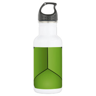 Isometric section of 3d space 18oz water bottle