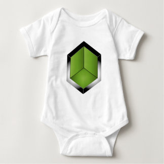 Isometric section of 3d space baby bodysuit