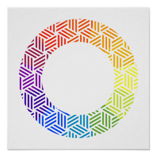 Isometric Weave Color Wheel Poster