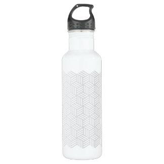 Isometric Weave #e5e5e5 24oz Water Bottle