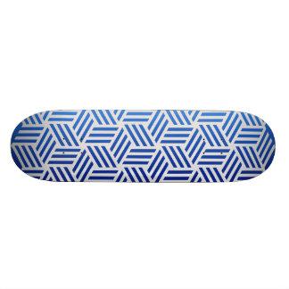 Isometric Weave #e5e5e5 Skate Board Deck
