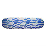 Isometric Weave #e5e5e5 Skate Deck