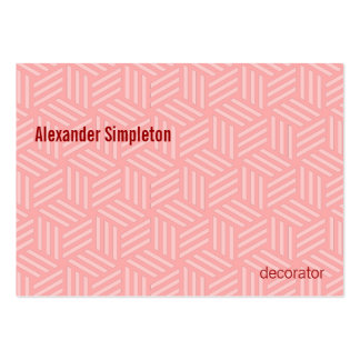 Isometric Weave #FFAAAA #FFCCCC Large Business Cards (Pack Of 100)