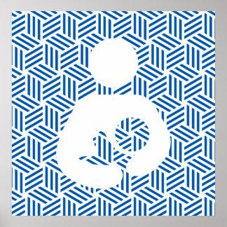 Isometric Weave Nursing / Breastfeeding Symbol Posters