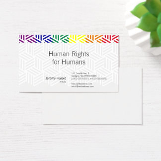 Isometric Weave Rainbow Flag Business Card