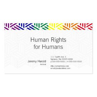 Isometric Weave Rainbow Flag Business Card Templates