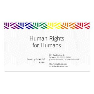 Isometric Weave Rainbow Flag Double-Sided Standard Business Cards (Pack Of 100)