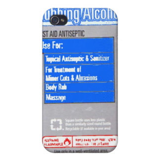 Isopropyl Rubbing Alcohol Covers For iPhone 4
