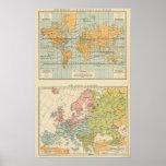 Isotérmico, religiones Europa de los vientos Poster