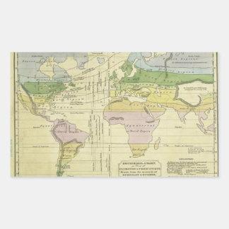 Isothermal chart climates & productions Woodbridge Rectangular Sticker
