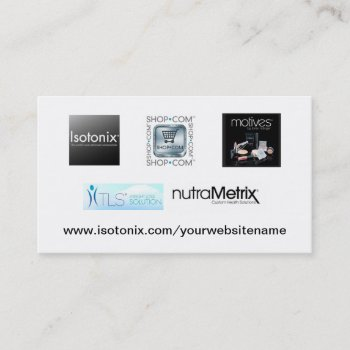 Browse products by learnknowunderstand at zazzle 1 isotonix distributor business card colourmoves