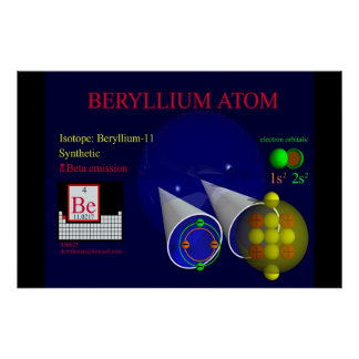 Isótopo Beryllium-11 (impresión) Póster