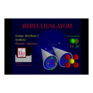 Isótopo Beryllium-5 (impresión) Póster